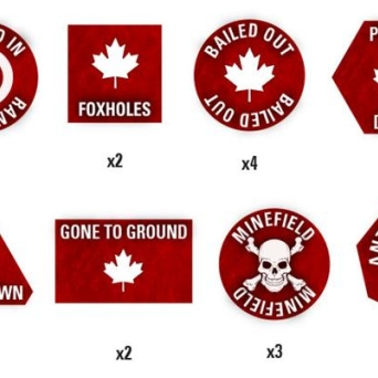Team Yankee Canadian Token Set