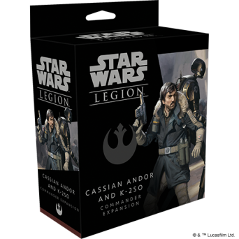 SW Legion: Cassian Andor and K-2SO Commander Expansion