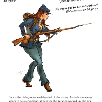 Clara from the Union Infantry (28 mm)