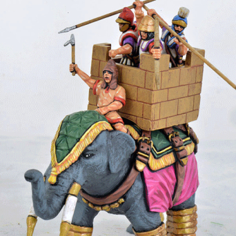 Successor Elephant, Quilted Armour, Stone Effect Howdah, Attacking Crew