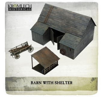 Barn with Shelter