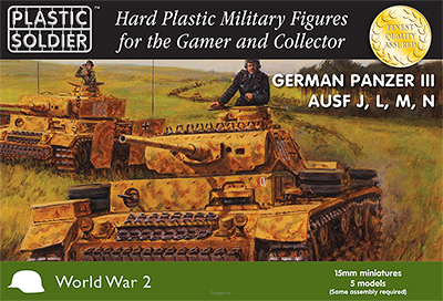 15mm Easy Assembly German Panzer III J, L. M and N Tank