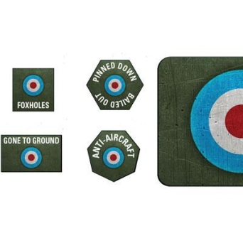 D-Day British Late War Tokens and Objectives