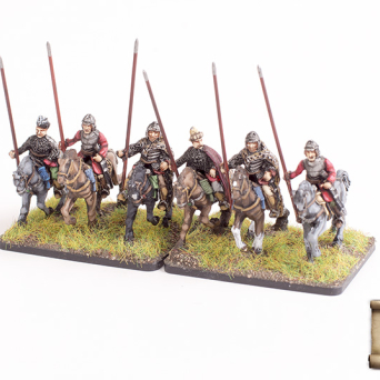 Household/enlisted cavalry with spears
