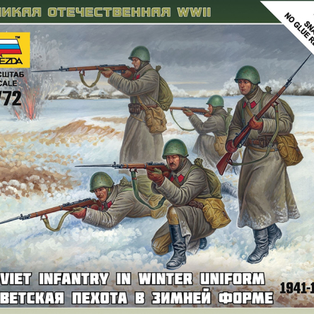 Soviet Infantry In Winter Uniform 1941-42