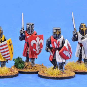 Crusading Foot Knights (Great Helms) (Advancing)
