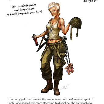 Jane, the US Paratrooper (28 mm)
