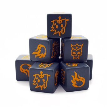 Forces of Chaos Dice (8)