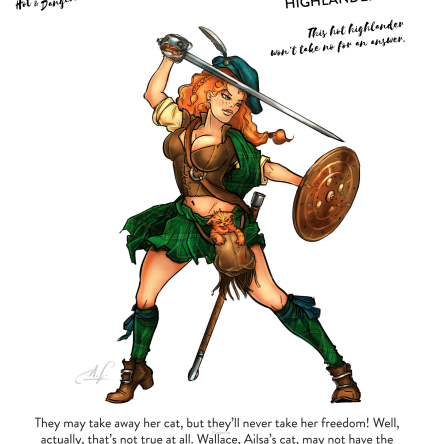 Ailsa, the Highlander (54 mm)