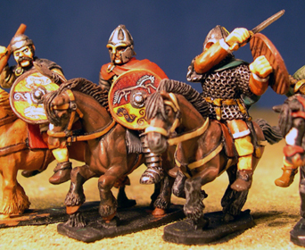 Mounted British Welsh Kingdoms Heroes