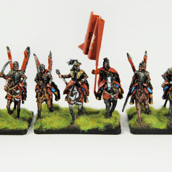 Winged hussars without lances