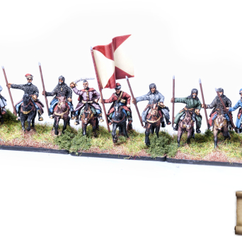 Banner of Polish Cossacks Cavalry with rohatyna spears