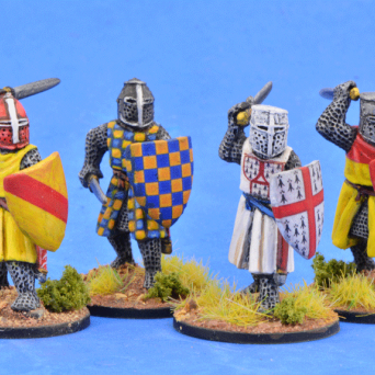 Crusading Foot Knights (Great Helms) (Attacking)