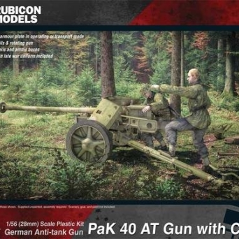 Pak40 Anti-tank Gun with Crew