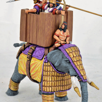 Successor Elephant, lamellar Armour, Wooden Howdah, Attacking Crew