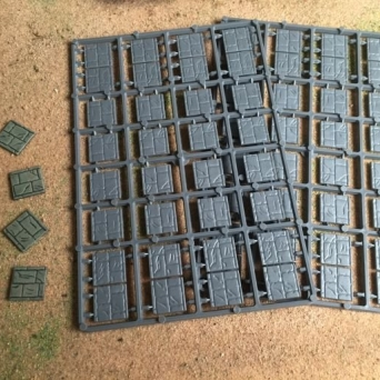 20mm Square Paved Effect Plastic Bases
