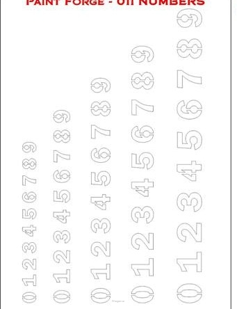Numbers (Large)
