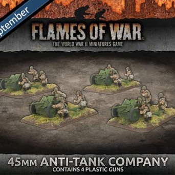 45mm Anti-Tank Company (x4 Plastic)