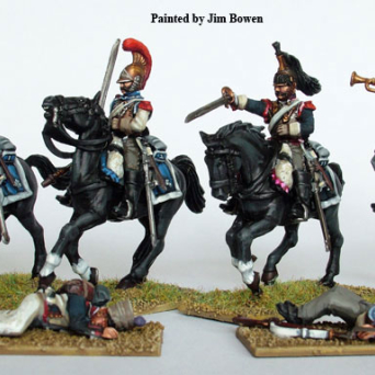 Plastic French Napoleonic Heavy Cavalry