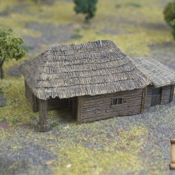 TER-12 Big peasant hut with pigsty