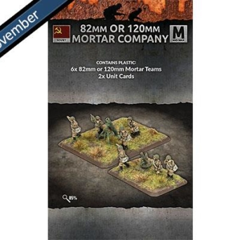 82mm or 120mm Mortar Company (6 teams Plastic)